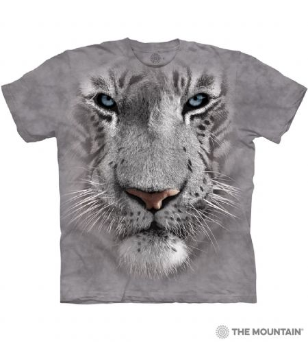 White Tiger Face T-shirt | The Mountain®
